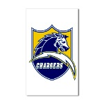 Chargers Bolt Shield Sticker (Rectangle)
