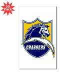 Chargers Bolt Shield Sticker (Rectangle 50 pk)