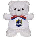 Chargers Bolt Shield Teddy Bear