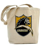 Chargers Bolt Shield Tote Bag