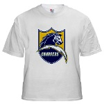 Chargers Bolt Shield White T-Shirt