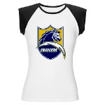 Chargers Bolt Shield Women's Cap Sleeve T-Shirt