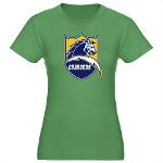 Chargers Bolt Shield Women's Fitted T-Shirt (dark)