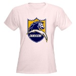 Chargers Bolt Shield Women's Light T-Shirt