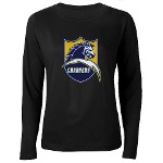 Chargers Bolt Shield Women's Long Sleeve Dark T