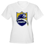 Chargers Bolt Shield Women's V-Neck T-Shirt
