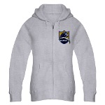 Chargers Bolt Shield Women's Zip Hoodie
