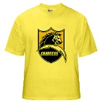 Chargers Bolt Shield Yellow T-Shirt