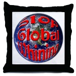 Stop Global Whining Throw Pillow