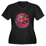 Stop Global Whining Women's Plus Size V-Neck