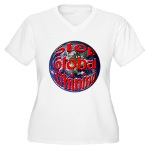 Stop Global Whining Women's Plus Size V-Neck T-Shi