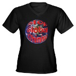 Stop Global Whining Women's V-Neck Dark T-Shirt