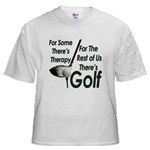 Golf Therapy White T-Shirt