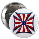 American Maltese Cross Button