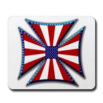 American Maltese Cross Mousepad