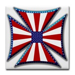 American Maltese Cross Tile Coaster
