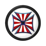 American Maltese Cross Wall Clock