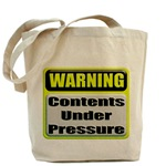 Contents Under Pressure Tote Bag
