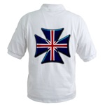 British Union Jack Flag Maltese Biker Maltese Iron Chopper Cross